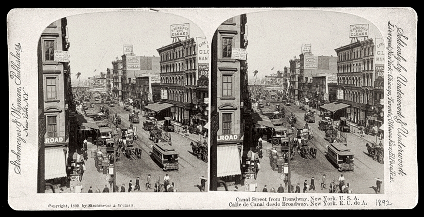 Broadway and Canal Street, 1892