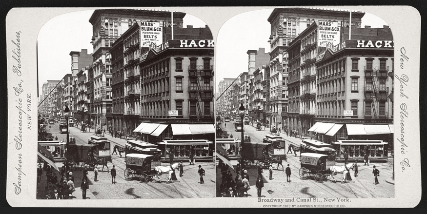 Broadway and Canal Street, 1899