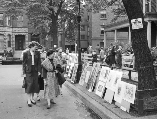 Old Town Art Fair, June 3, 1950