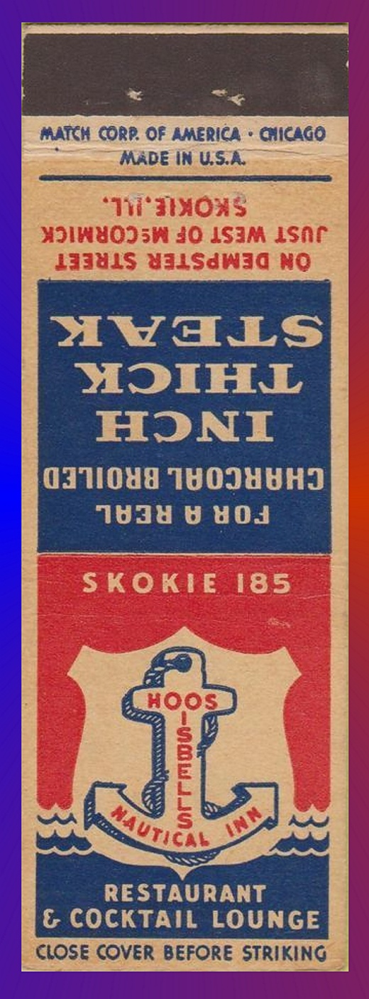 Isbells Nautical Inn Matchbook
