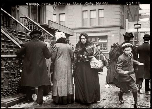 Salvation Army Christmas Dinner Baskets, 1908