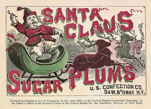 Sugar Plums, U.S. Confection Co., 54 W. Broadway, 1868