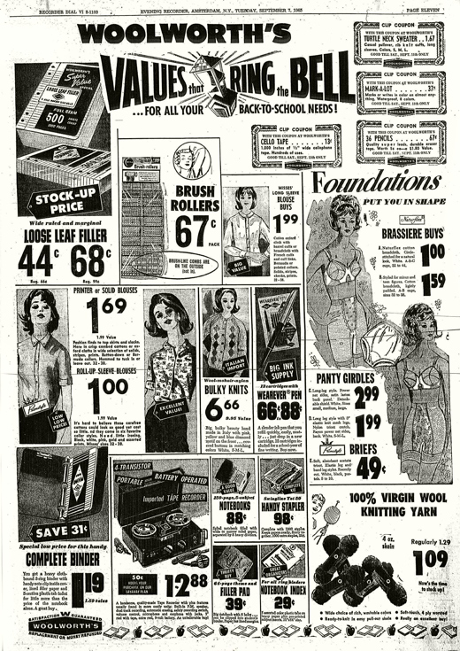 Woolworth's Ad 1965
