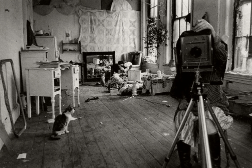 Francesca Woodman in Pilgrim Mills Studio