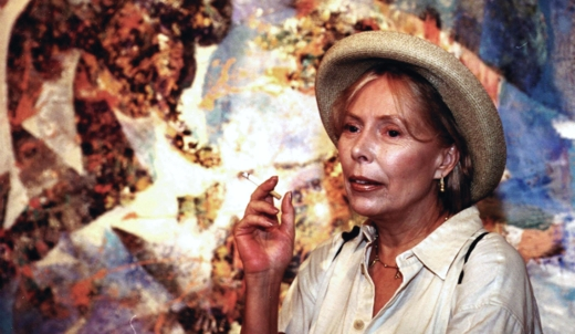 Joni Mitchell with Art