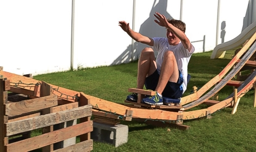 Homemade Backyard Roller Coaster
