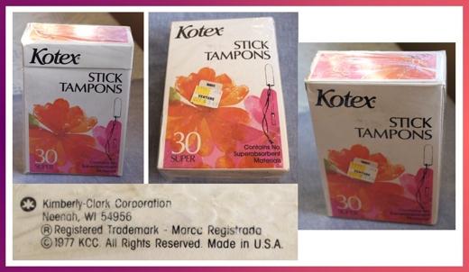 Vintage Kotex Tampons
