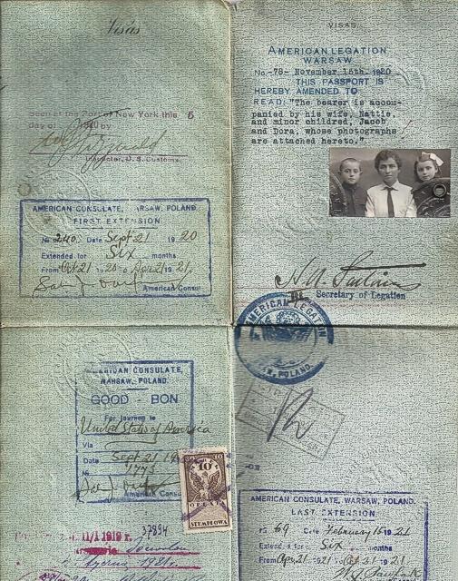 1920 Weiss Passport