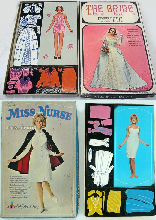 Bride & Miss Nurse Colorforms 1963 1965