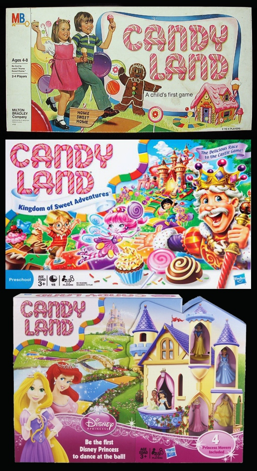 yCandy Land 1978, 2005, Princess