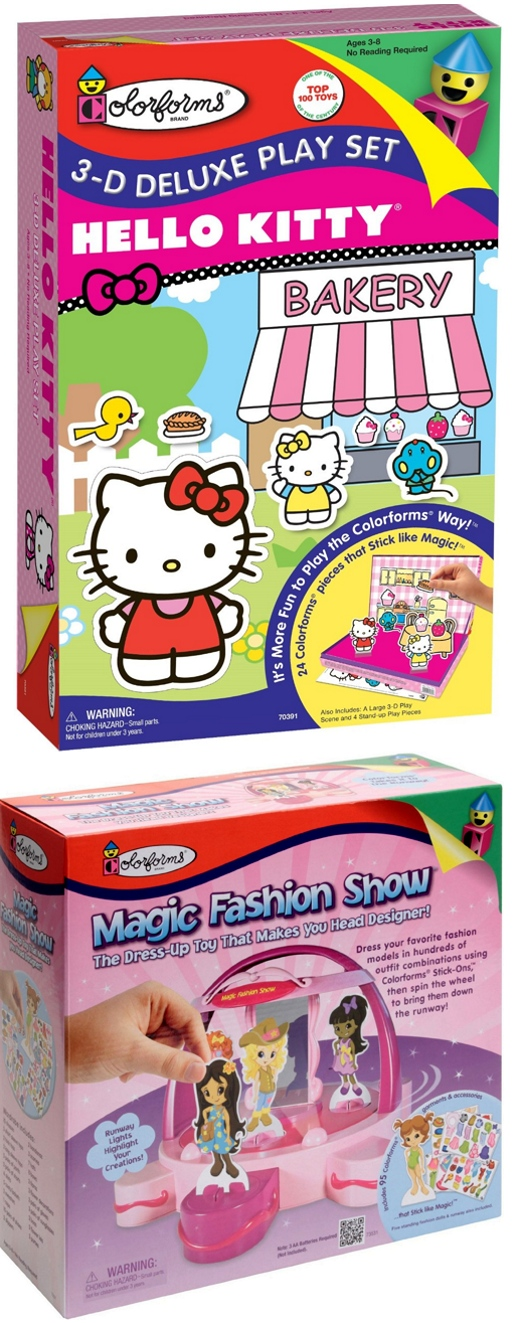 Hello Kitty & Magic Fashion Show Colorforms