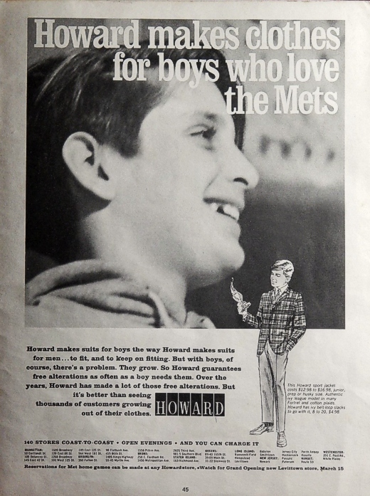Howard Clothes Ad 1966