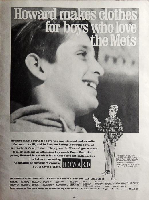 Howard Clothes Ad 1966