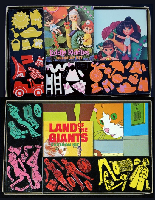Liddle Kiddles & Land of Giants Colorforms 1968