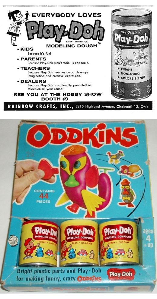 Vintage Play-Doh Ad & 1967 Oddkins