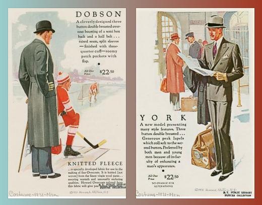 Howard Clothes Ads 1931 - NYPL