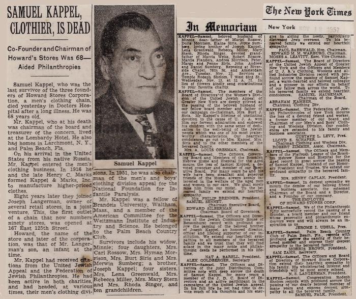 Kappel Obituary