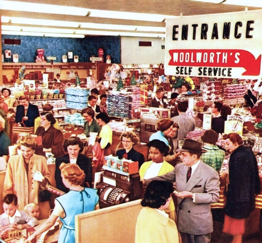 nside Woolworth's 1955