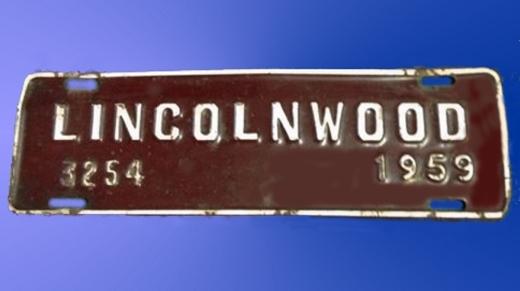 Lincolnwwod License Tag