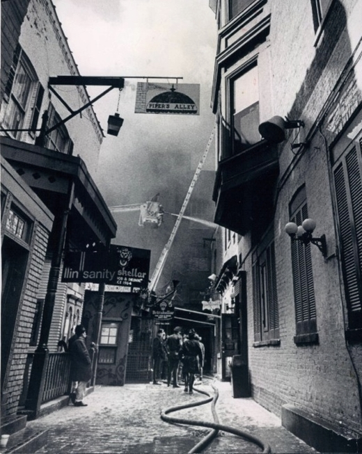 Pipers Alley Fire 1971