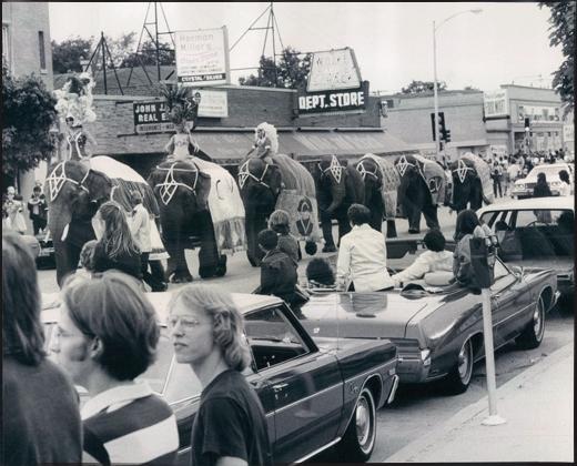 1975 Circus Vargas Elephant Parade