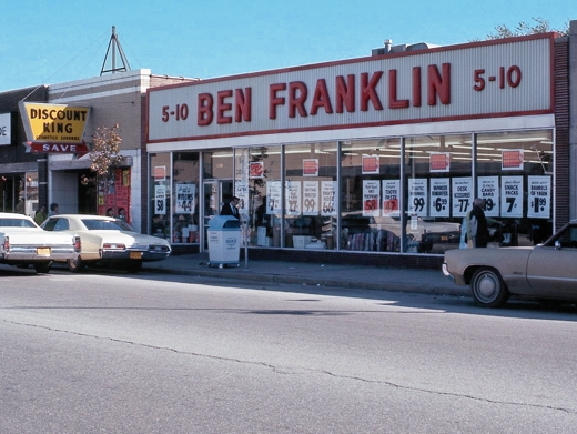 Ben Franklin and Discount King 1975