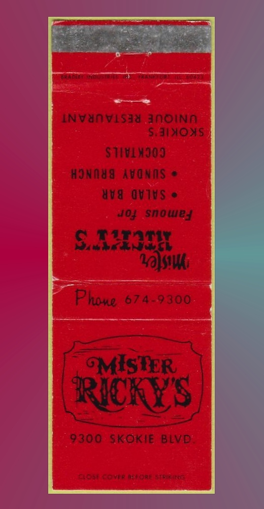 Mister Ricky's Matchbook