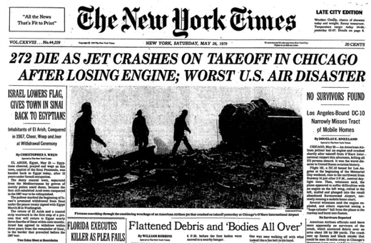 AA Crash May 25, 1979