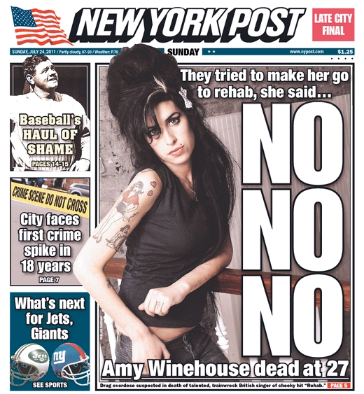 Amy Winehouse July 23, 2011