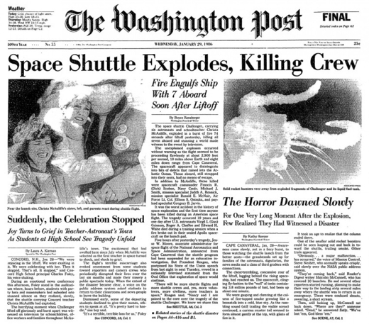 Challenger January 28, 1986
