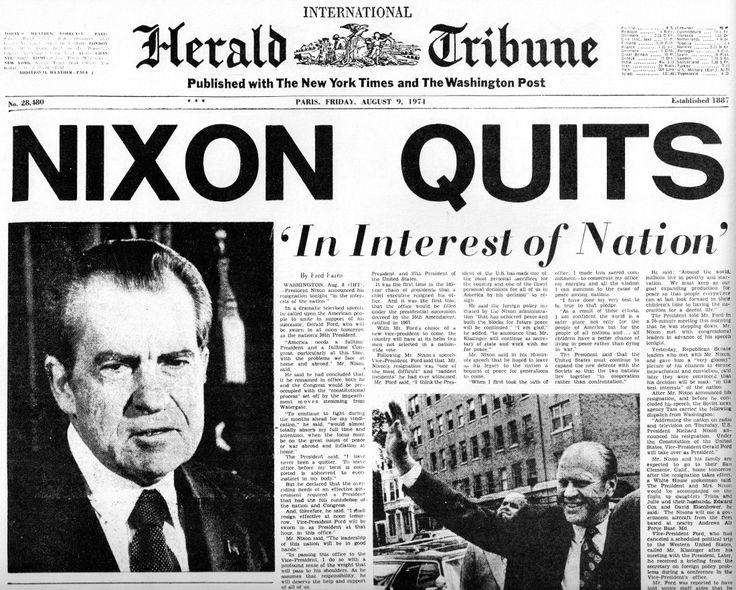 Nixon Resigns August 9, 1974