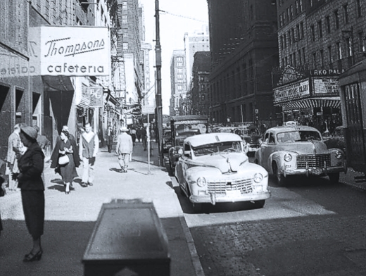 RKO Palace Theater Thompson's Cafeteria BT Sandwich Shop - 1950