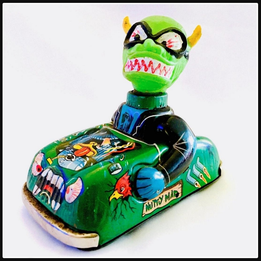 1968 Marx Nutty Mad Crazy Monster Tin Friction Car