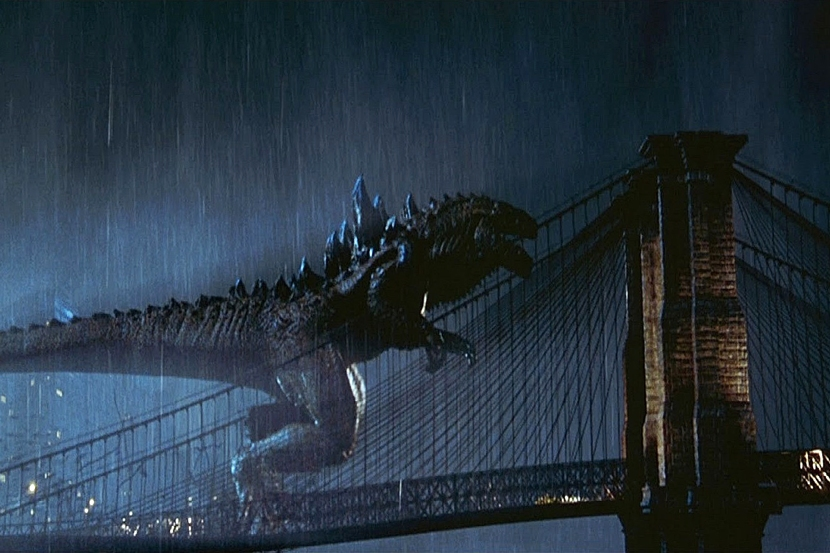 Godzilla Attacks Brooklyn Bridge