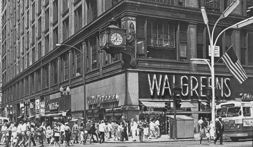 Walgreens State and Madison, 1960